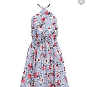 Venus floral print midi dress